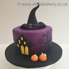 Witches Hat Halloween Cake